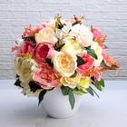 Цвточная композиция «Нежность», керамическая ваза, элит, ручная работа