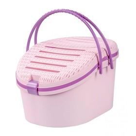 """Переноска """"Феликс"""" для животных, пластик, 45 x 37,5 x 41 см, розовый"""