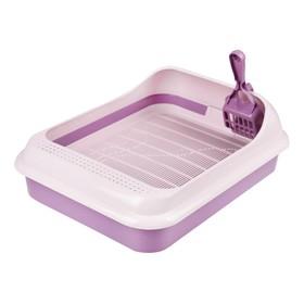 """Набор: туалет+совок """"Феликс"""" для кошек, 45 x 35 x 15 см, фиолетовый"""