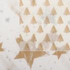 Бумага тишью «Золотые ёлки и звезды», набор 4 шт., 50 х 76 см, микс
