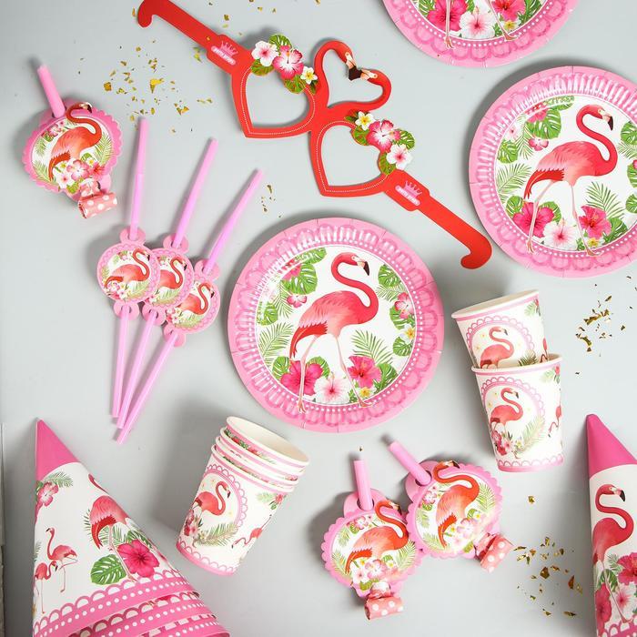"""Набор для праздника на 6 персон """"Фламинго"""""""