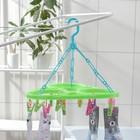 Сушилка для белья подвесная треугольная, 15 прищепок, цвет МИКС