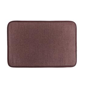 Коврик «Лён», 40×60 см, цвет коричневый