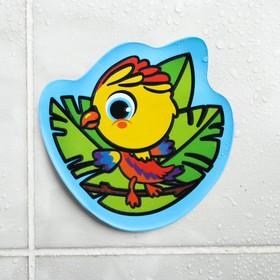 Наклейка для игры в ванной «Попугай»