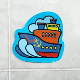 """Наклейка для игры в ванной с водным слоем """"Корабль"""""""