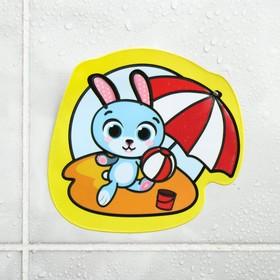 Водная раскраска - наклейка для игры в ванной «Зайчик»