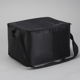 Сумка-термо, 18 л, отдел на молнии, регулируемый ремень, цвет чёрный