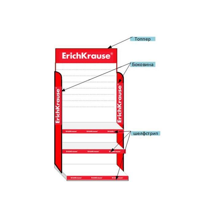 Cтойка из картона с логотипом ErichKrause, 795х2000х400 мм