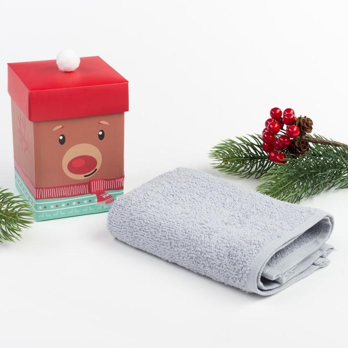 """Махровое полотенце """"Олененок"""" 30х30 см, хлопок 340гр/м2"""