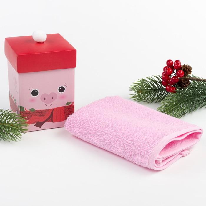 """Махровое полотенце """"Хрюша"""" 30х30 см, хлопок 340гр/м2"""