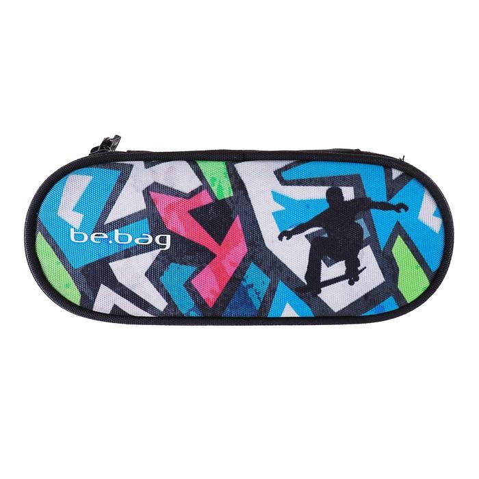 Пенал мягкий футляр ткань 60х215х90 мм Herlitz Be.bag Airgo для мальчика, Skater