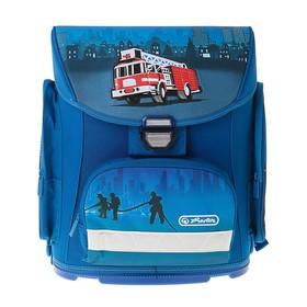 Ранец на замке Herlitz MIDI, 38 х 37 х 22, для мальчика, Fire Truck, синий