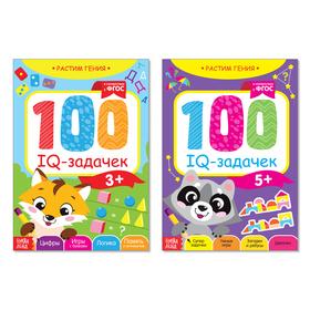 Книги набор «IQ задачки». 2 шт по 40 стр.