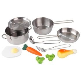 Игровой набор «Игрушечная посуда», 11 элементов, металл
