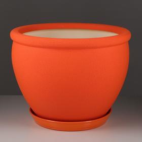 """Горшок для цветов """"Вьетнам"""" 18,0 л, шёлк, оранжевый"""