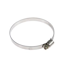 Хомут червячный TUNDRA krep W2, диаметр 70-90 мм, ширина 9 мм, нержавеющая сталь Ош