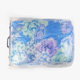 Одеяло, размер 140х205 см, цвет МИКС, синтепон - фото 61575