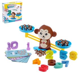 "Playing a set of ""Training Libra Monkey"": numbers, cards, figures"