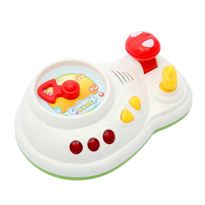 Игрушка музыкальная развивающая «Руль», световые и звуковые эффекты, в пакете