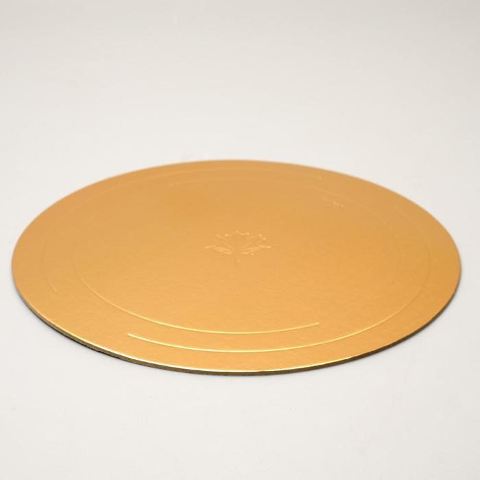Подложка усиленная 36 см, золото-жемчуг, 3,2  мм - фото 308035442