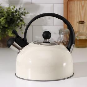 Чайник со свистком Доляна «Прованс», фиксированная ручка, 1,8 л, цвет слоновая кость