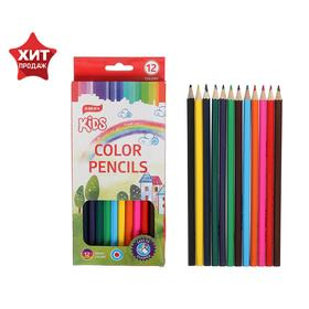 12-color pencils, Beifa Bright World, oil-based