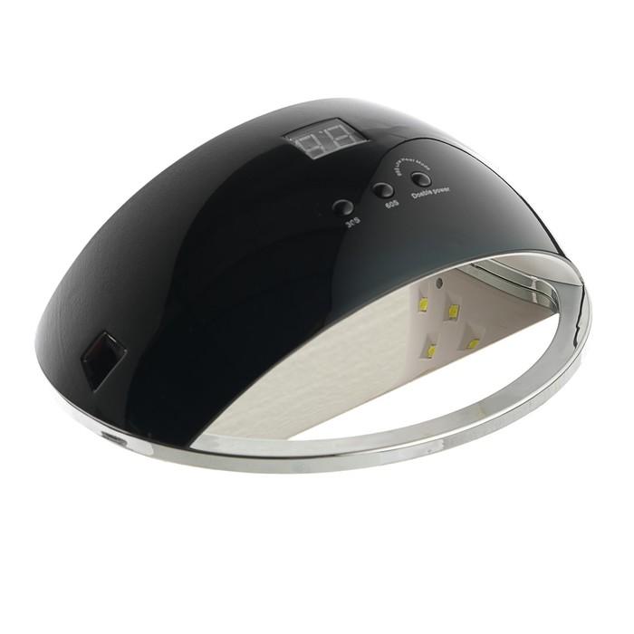 Лампа для гель-лака LuazON LUF-22, LED, 48 Вт, 21 диод, таймер 30/60/99 сек, чёрная