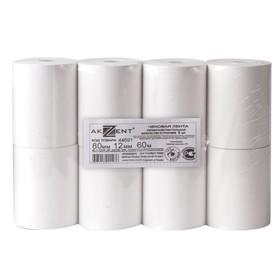 Чековая лента термо 80мм 60м 80х60х12, AKZENT, 8 штук в наборе 110370