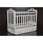 Кровать детская Любаша «Каролина» маятник поперечный, цвет белый