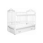 Кровать детская Любаша «Каролина» маятник продольный, цвет белый