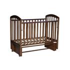 Кровать детская «Любаша» маятник продольный, цвет орех