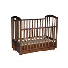 Кровать детская «Любаша» универсальный маятник (поперечный+продольный), цвет орех