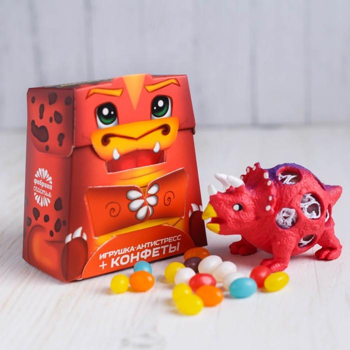 Набор «Дино»: игрушка антистресс, конфеты 20 г