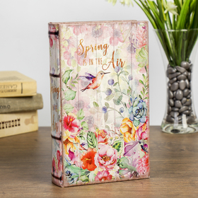 "Сейф-книга дерево ""Весна в воздухе"" кожзам 21х13х5 см"