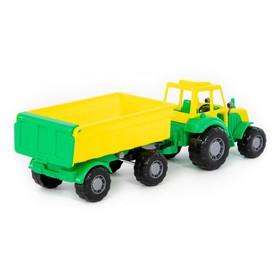 Трактор «Мастер», с прицепом №1, цвета МИКС