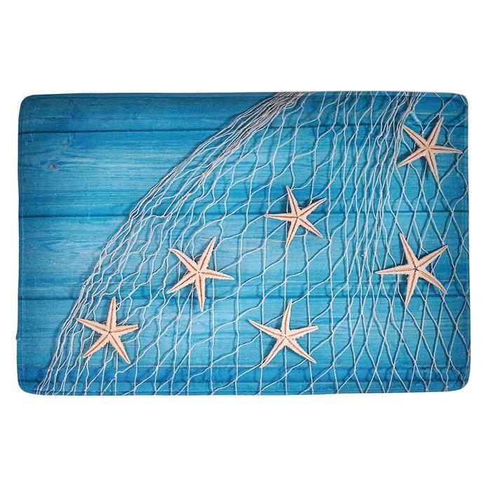 """Коврик для ванной 40×60 см """"Морские звёзды"""""""