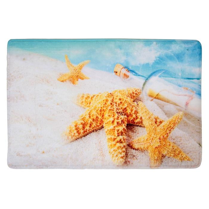 """Коврик для ванной 40×60 см """"Звёзды на песке"""""""
