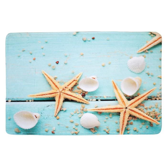 """Коврик для ванной 40×60 см """"Морские обитатели"""""""
