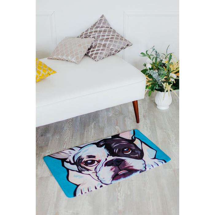 Коврик для дома «Мопс», 45×75 см