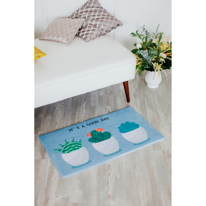 Коврик для дома «Кактусы», 45×75 см