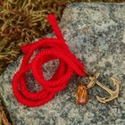 "Charm bracelet ""the Red thread. Anchor"" pendant, amber"