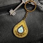"""Keychain, drop of oil, """"Nizhnevartovsk"""" (the Church of the Nativity) 4 x 5 cm"""