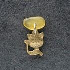 "Keychain mascot ""kitty"", natural amber"