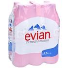 Вода минеральная негазированная Evian, 1,5 л (6 шт. в упаковке)