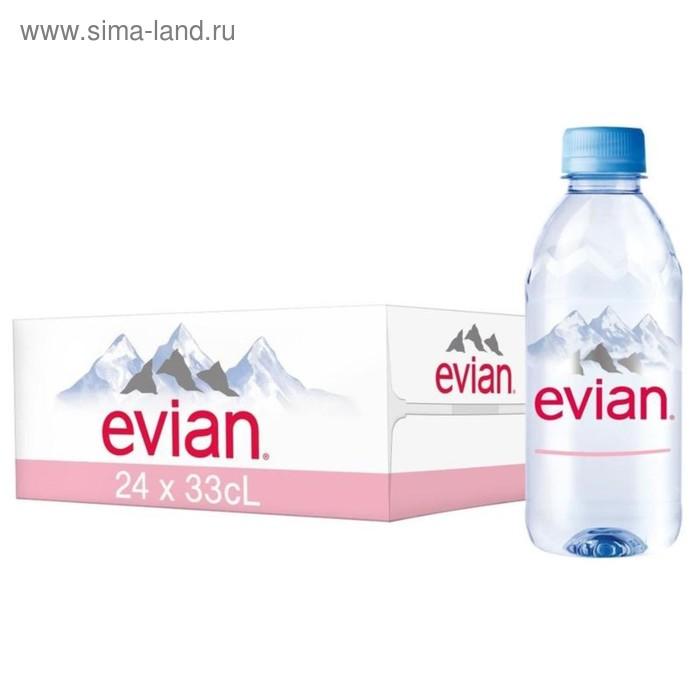 Вода минеральная негазированная Evian, 0,33 л (24 шт. в упаковке)