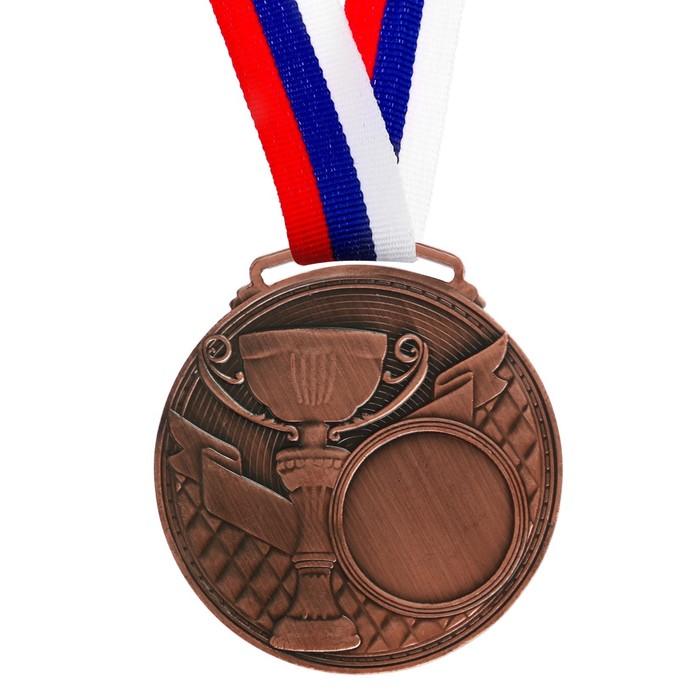 Медаль под нанесение, бронза, d=6 см