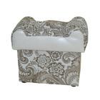 "Ottoman rectangular folding, ""Gzhel + faux leather Ecotex A 109"""