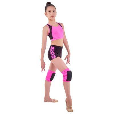 Шорты гимнастические «Эрида» размер 40, цвет чёрный - розовый