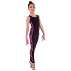 Лосины гимнастические «Нерида», размер 34, цвет чёрный - розовый