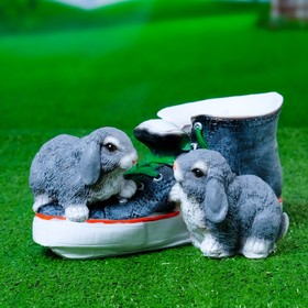"Фигурное кашпо ""Кед с зайцами"" 14х18х28см"